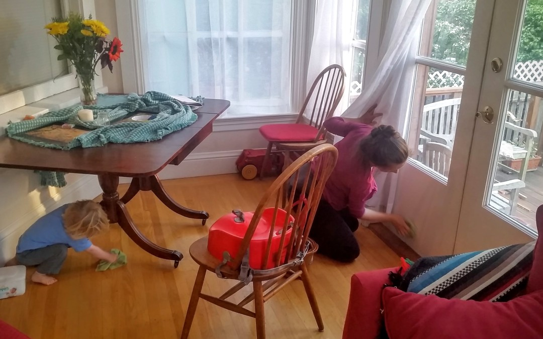 Inspirations from a Waldorf Kindergarten #1:  Family Washing Day