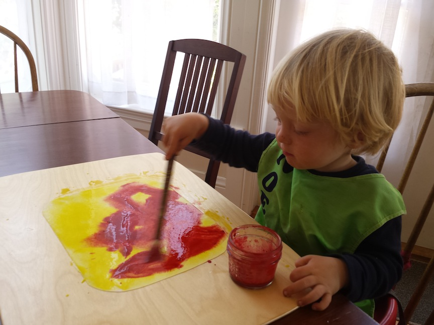 Inspirations from a Waldorf Kindergarten #2:   Painting Day