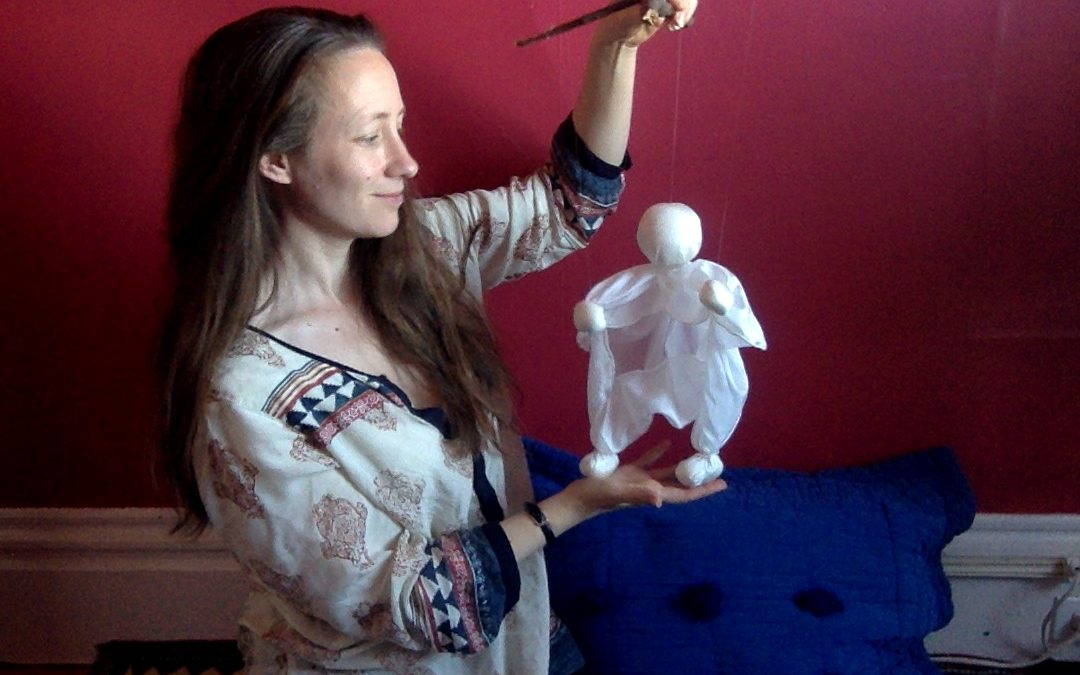 Tutorial:  Make a scarf puppet marionette